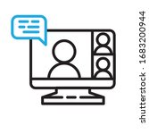 video conference icon. people... | Shutterstock .eps vector #1683200944
