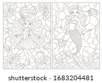 set of contour illustrations of ... | Shutterstock .eps vector #1683204481