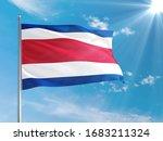 Costa Rica National Flag Waving ...
