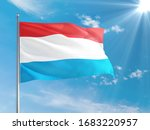 Luxembourg National Flag Waving ...