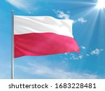 Poland National Flag Waving In...