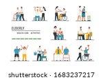 elderly health care  old people ...   Shutterstock .eps vector #1683237217