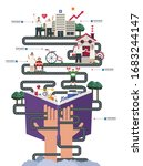 elderly care activity concept... | Shutterstock .eps vector #1683244147
