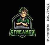 gamer mascot logo. streamer... | Shutterstock .eps vector #1683249331