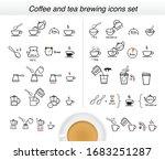 set of methods of brewing tea... | Shutterstock .eps vector #1683251287