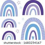 cute nursery rainbow  stars ... | Shutterstock .eps vector #1683254167