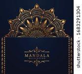luxury mandala background with...   Shutterstock .eps vector #1683291304