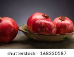 fresh and ripe pomegranate on... | Shutterstock . vector #168330587