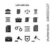 set of law and jail icon  law... | Shutterstock .eps vector #1683321127