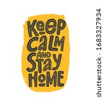 keep calm and stay home vector... | Shutterstock .eps vector #1683327934