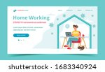 home office during coronavirus... | Shutterstock .eps vector #1683340924