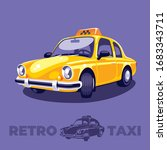 the cute yellow taxi car of the ... | Shutterstock .eps vector #1683343711
