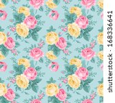 vector seamless vintage floral... | Shutterstock .eps vector #168336641