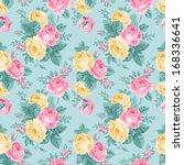 vector seamless vintage floral... | Shutterstock .eps vector #168336641