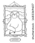 cute cartoon coloring page with ... | Shutterstock .eps vector #1683369607