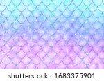 Pink Blue Mermaid Scales....