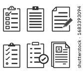 set of record checklist paper....   Shutterstock .eps vector #1683393094