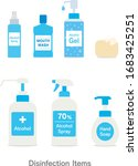 disinfection set for virus...   Shutterstock .eps vector #1683425251