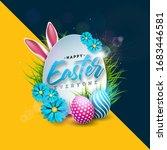 happy easter holiday design...   Shutterstock . vector #1683446581
