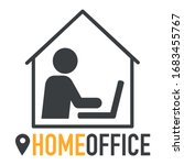 work at home during corona... | Shutterstock .eps vector #1683455767