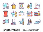 cleaning services color icons... | Shutterstock .eps vector #1683501034