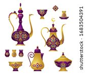 vector set with arabic elements ... | Shutterstock .eps vector #1683504391