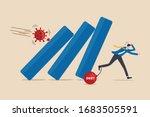 coronavirus crash  covid 19... | Shutterstock .eps vector #1683505591