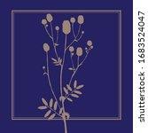 meadow grass. greater burnet.... | Shutterstock .eps vector #1683524047