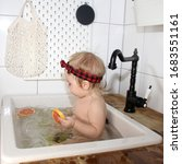 Little Baby  Baby Bathes In The ...