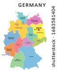 germany political map.... | Shutterstock .eps vector #1683581404