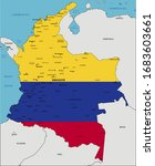 colombia highly detailed... | Shutterstock .eps vector #1683603661