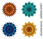set of four round mandalas for...   Shutterstock .eps vector #1683612067
