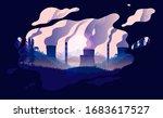 pollution illustration.... | Shutterstock .eps vector #1683617527