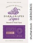 family recipe grapes liquor...   Shutterstock .eps vector #1683618631
