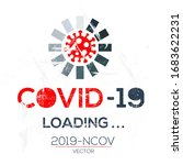 creative  covid 19 loading ... | Shutterstock .eps vector #1683622231