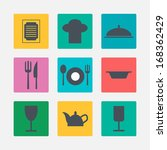 kitchen icons | Shutterstock .eps vector #168362429