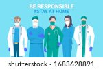 stay at home awareness social... | Shutterstock .eps vector #1683628891