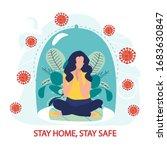 coronavirus outbreak vector...   Shutterstock .eps vector #1683630847