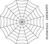 spider web on a white... | Shutterstock .eps vector #168365495