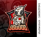 voodoo esport logo mascot design