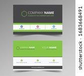 creative business card template ... | Shutterstock .eps vector #1683668491