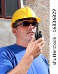 construction personnel using... | Shutterstock . vector #16836829