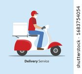 delivery during covid 19... | Shutterstock .eps vector #1683754054