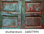 Old Painted Door In Morocco