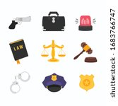 law element set isolated vector ... | Shutterstock .eps vector #1683766747
