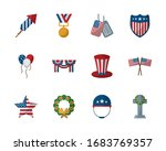 flat style icon set design ...   Shutterstock .eps vector #1683769357