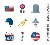 flat style icon set design ...   Shutterstock .eps vector #1683769387