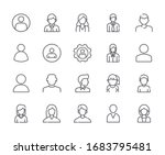 set of avatar related vector... | Shutterstock .eps vector #1683795481