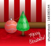 tiny christmas tree with globe... | Shutterstock . vector #168380144