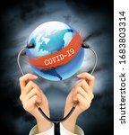 coranavirus pandemic background ... | Shutterstock .eps vector #1683803314